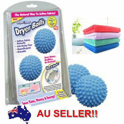 Clothes Dryer Laundry Balls Softens Fabrics Without Harsh Chemicals
