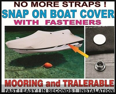 SNAP ON ! BOAT COVER 14 16 17 19 20 22 feet ANY SIZE +FREE BAG Bootspersenning