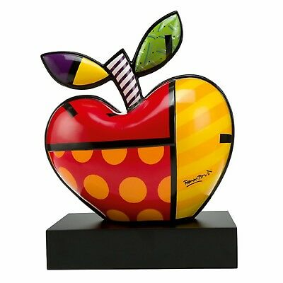 "ROMERO BRITTO Skulptur ""BIG APPLE"" Goebel Porzellan Figur - MIAMI POP ART NEU !!"