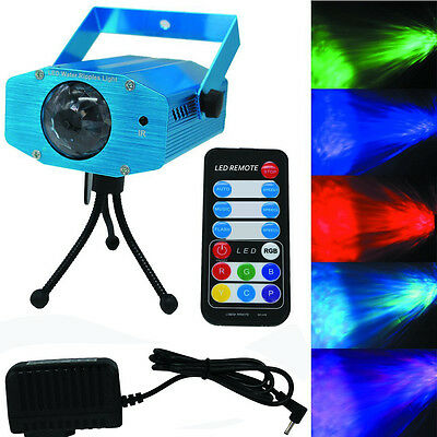 RGB Water Wave Projector DJ Disco 7 LED Light Stage Party Laser Lighting Show UK