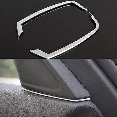 Rear Back Seat Cover Frame Trim ABS Chrome Silver For BMW 3 4 Series F10 F11