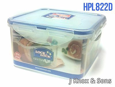 2 Lock and & Lock HPL822D 1.2L Plastic Food Storage Container Kitchen Accessory