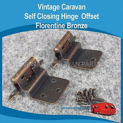 Caravan Self Closing Hinge Offset Florentine Bronze Vintage Viscount,Golf H0129