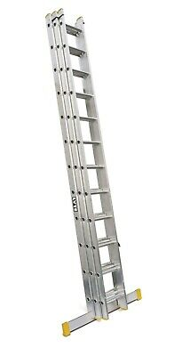 Lyte Trade Aluminium Extension Ladder -Triple Section - 4.04 - 10.22m | ELT340