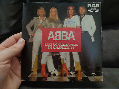 """ABBA_Take A Chance On Me_used 45 VINYL_7""""_from AUS!__OH1d"""