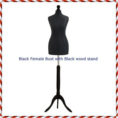 Female Tailors Mannequin Display Black Dummy For Dressmakers Size UK 12/14
