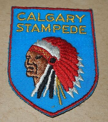 Vintage Calgary Stampede Crest-Style Sew One Badge Patch Colorful Head Dress