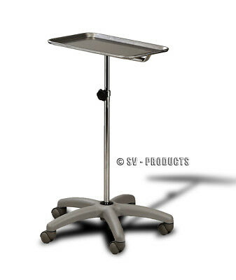 Mobile Mayo Doctor Medical Instrument Stand Tray Table 227