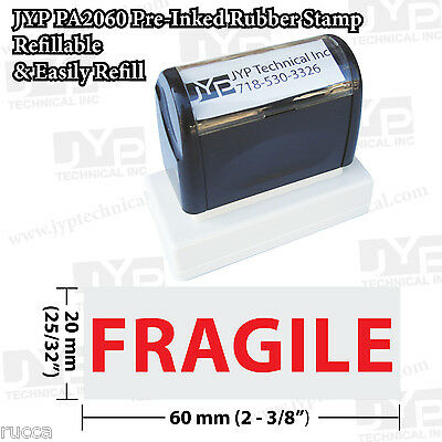 "New JYP PA2060 Pre-Inked Rubber Stamp with ""Fragile"""