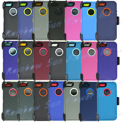 For Apple iPhone 5S / SE Case Cover w/Screen &(Belt Clip Fits Otterbox Defender)
