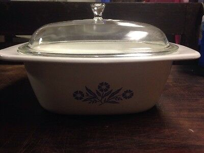 Corning Ware Blue Cornflower 4 qt. Dutch Oven Baking Casserole P-34-B With LID