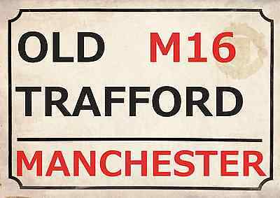 Manchester United Football Art Print Street Sign The Red Devils  Footy Design