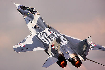 """24"""" x 16"""" Poster MIG29 Military Fighter Jet"""
