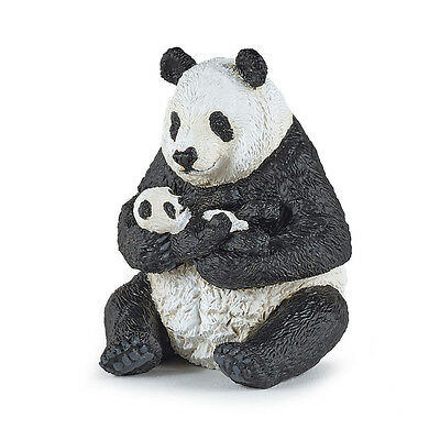 Papo 50196 Panda Bear with Cub Sitting Baby Animal Figurine Model Toy 2016 - NIP