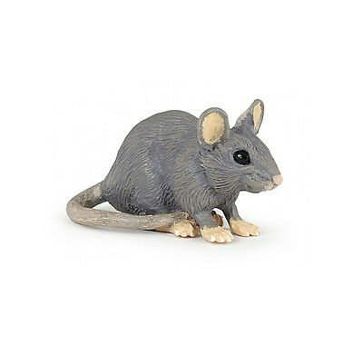 Papo 50205 Gray House Mouse Animal Figurine Rodent Toy Model Replica 2016 - NIP