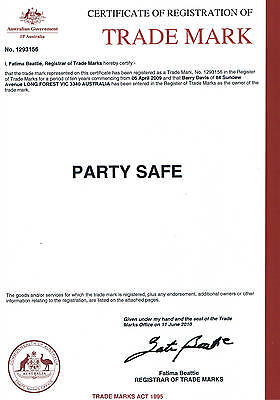 Party Safe Trademark