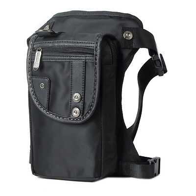 Men Nylon Waist Fanny Pack Hip Motorcycle Rider Tactical Military Drop Leg Bag