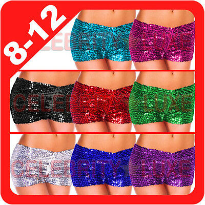 New Sequin Hot Pants Boyleg Shorts Panties Underwear Knickers Dancer Stripper