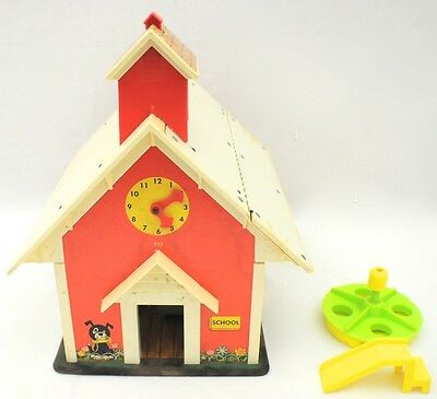 Vintage 1971 Fisher Price School House w/ Acc.