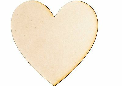 Large MDF RAW Wooden Love Heart Shape Wood Cutout Plaque Sign Wedding Decoration