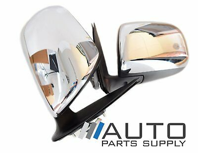 Toyota Hilux LH + RH Electric Door Mirrors Chrome 2005-2011 *New Pair*