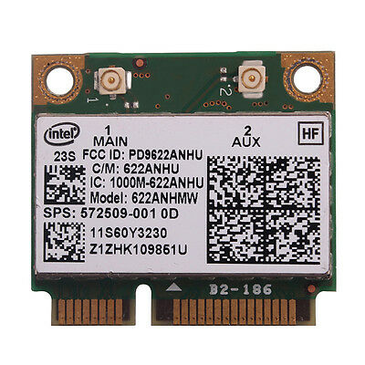 Intel 622ANHMW 6200 Mini PCI-E 802.11a/g/n Dual Band Wireless Card for HP Laptop