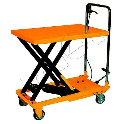 500kg Hydraulic Platform Table Trolley Lift Mobile Lifting Table Cart Truck