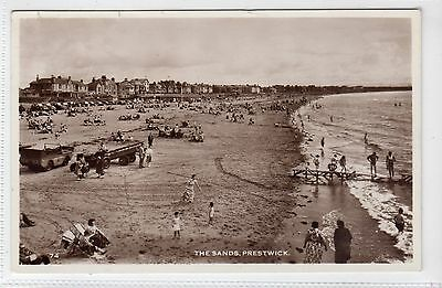 THE SANDS, PRESTWICK: Ayrshire postcard (C16388)