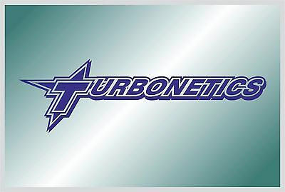 TURBONETICS - sticker on car - HIGH QUALITY - different colors - №1131