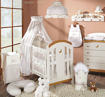 LUXURY BABY CANOPY/DRAPE + HOLDER  Fit COT/COT BED - Brown/Beige