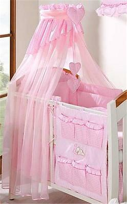 Luxury Baby Canopy / Drape + Holder For Cot/ Cot Bed Pink
