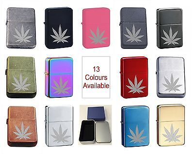 Hash Leaf 30 Personalised Engraved Star Lighter In Gift Tin