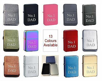 No. 1 Dad 125 Personalised Engraved Star Lighter In Gift Tin