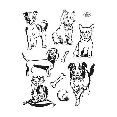 Viva Decor A5 Clear Silicone Stamps Set - Dogs #141