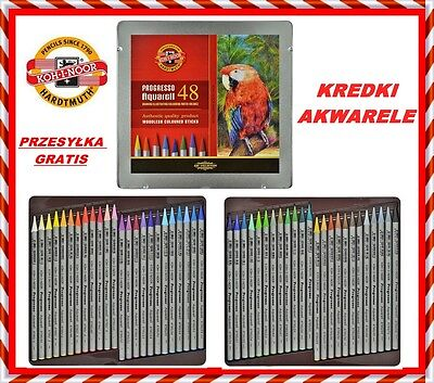 Koh-I-Noor Progresso Aquarell Woodless Colored Pencils in metal 48 COLOR 8786