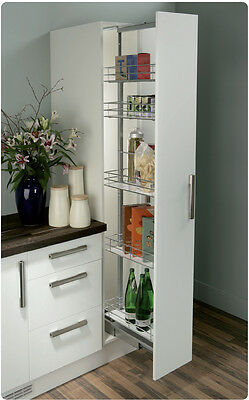 Pull Out Soft Close Larder Tall Unit with 5 Wire Baskets