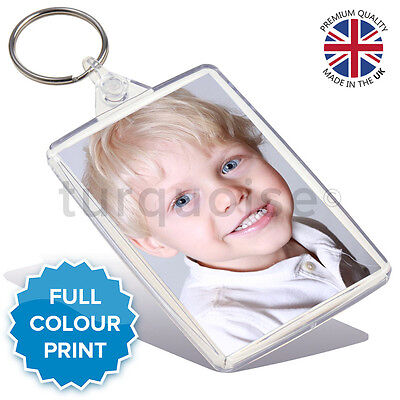 Personalised Custom Photo Gift Keyring Key Fob 73 x 51 mm | Jumbo Size