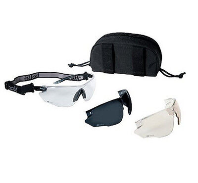 Bolle 40168 Combat Kit Ballistic Shooting Protection Spectacles Comfort Temples