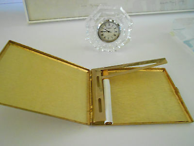 Cool Gold Plated Scroll Filigree Cigarette Case Colibri Hollywood Regency
