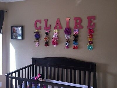 Nursery Wall Decor - Girls Name Bow Hanger