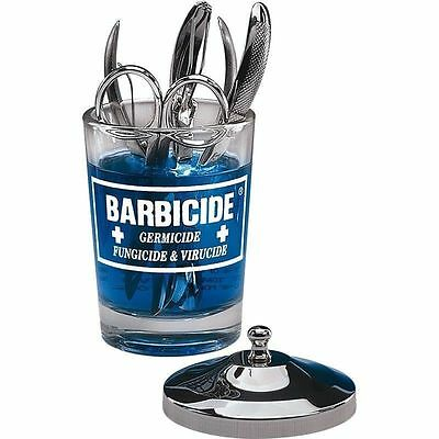 Barbicide disinfectant Jar Glass for Salon, Spas, Medical, Athletics Tools