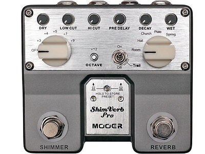 New Mooer ShimVerb Pro Micro Reverb Guitar Effects Pedal