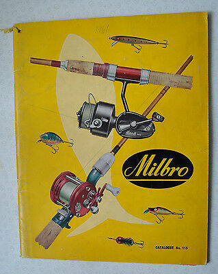 Rare Vintage Milbro Trade Fishing Advertising Catalogue For 1961