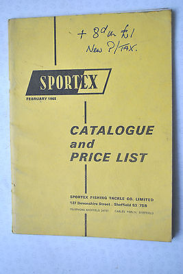 Scarce Vintage Sportex Fishing Advertising Catalogue For 1968