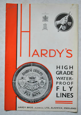 "A Scarce Vintage Hardy Advertising Pamplet ""high Grade Waterproof Lines"""