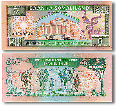 1994 5 Shillings Somaliland — Perfect Uncirculated Note