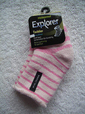 BNWT Baby Girl's Holeproof Explorer Pink Cotton Socks Size 1-2 6-12 Months