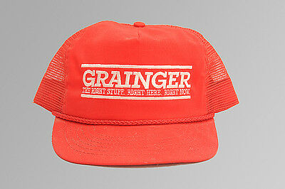 Grainger Red Adjustable Snapback Hat Baseball Cap New