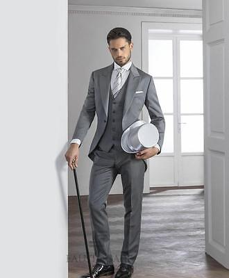 Handsome Custom Made Wedding Suits for men Groom Tuxedos 2016 New Formal Suits
