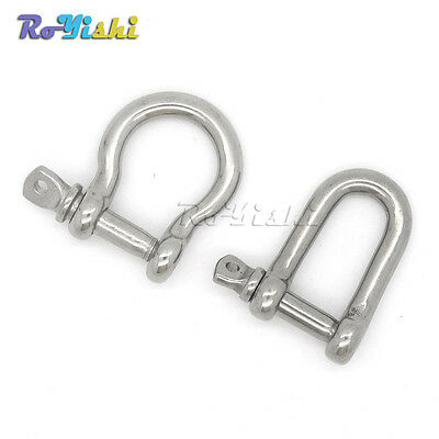 Stainless Steel U/D Anchor Shackle Screw Pin for Paracord Bracelet
